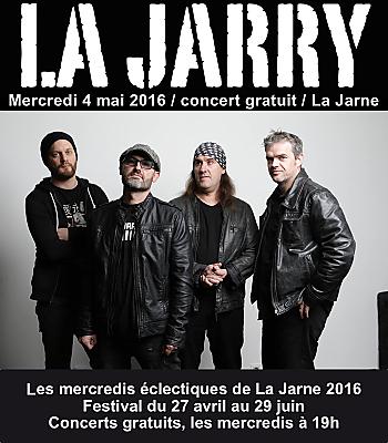 illustration de La Rochelle Agglo : le rock de La Jarry aux mercredis éclectiques de La Jarne le 4 mai 2016 à 19h