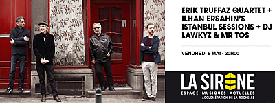 illustration de Electro jazz à La Rochelle : Erik Truffaz Quartet et  Ilhan Ersahin à La Sirène, vendredi 6 mai 2016