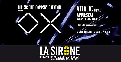 illustration de Performance visuelle et techno à La Rochelle : projet OX, Vitalic Dj Set, Applescal, AAA à La Sirène, vendredi 13 mai 2016