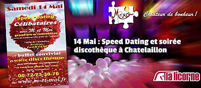 illustration de La Rochelle Sud : soirée pour les célibataires, speed dating et discothèque à Châtelaillon, samedi 14 mai 2016