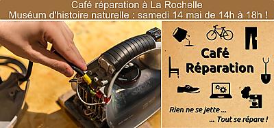illustration de Café réparation à La Rochelle : RV au Muséum d'histoire naturelle, samedi 14 mai 2016 de 14h à 18h