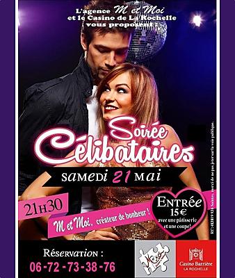 illustration de Soirée dansante pour les célibataires à La Rochelle, samedi 21 mai 2016 au Casino Barrière
