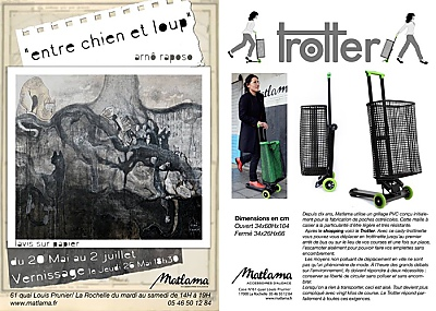 illustration de Vernissage à La Rochelle : Matlama invite Arnô Raposo, entre chien et loup, jeudi 26 mai 2016