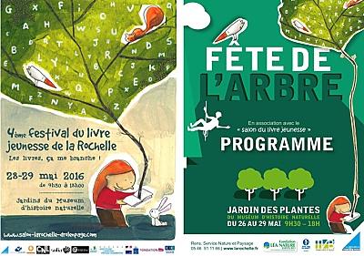 illustration de RV aux jardins du Muséum de La Rochelle : fête de l'arbre et festival du livre jeunesse, week-end des 28 et 29 mai 2016