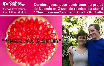 illustration de La Rochelle plats végétariens : reprise du stand Chez ma soeur, crowdfunding derniers jours les 5 et 6 juin 2016