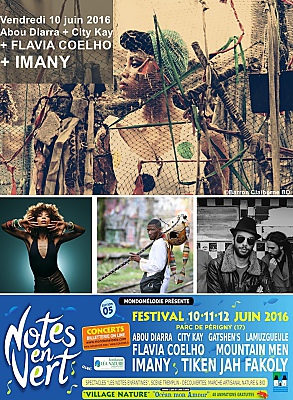 illustration de La Rochelle - Périgny : Imany et Flavia Coelho, têtes d'affiche du concert Notes en Vert, vendredi 10 juin 2016