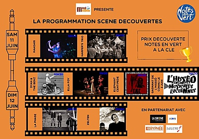 illustration de Scène découverte du festival Notes en Vert à Périgny : concerts gratuits samedi 11 et dimanche 12 juin 2016