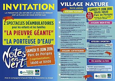 illustration de Périgny - La Rochelle : animations et ateliers gratuits au Village Nature du festival Notes en Vert, samedi 11 juin 2016