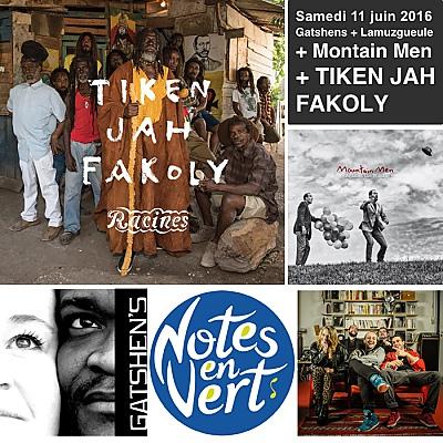 illustration de La Rochelle - Périgny, festival Notes en Vert : Mountain Men et Tiken Jah Fakoly en concert, samedi 11 juin 2016