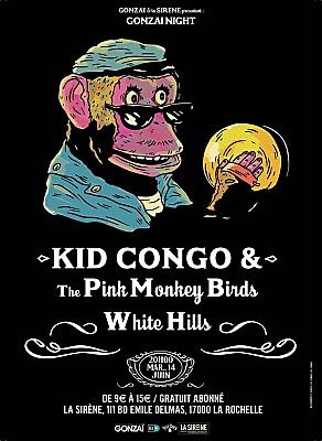 illustration de Rock à La Rochelle avec Gonzaï et La Sirène : Kid Congo and Pink Monkey Birds ; et White Hills, mardi 14 juin 2016