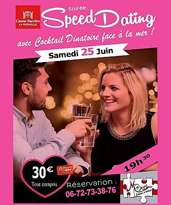 illustration de Soirée pour les célibataires à La Rochelle : speed dating et cocktail dînatoire, samedi 25 juin 2016