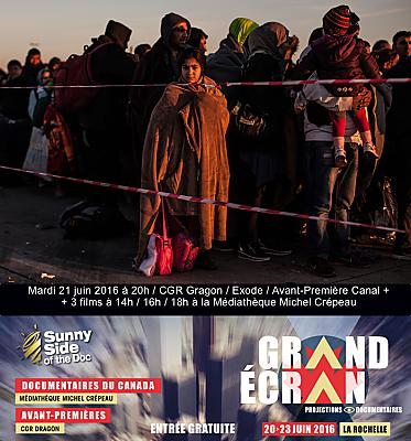 illustration de Documentaires sur grand écran à La Rochelle : évasion fiscale, dancers, Inuit et l'Exode de Canal Plus, mardi 21 juin 2016
