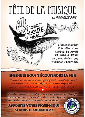 illustration de Écouter la mer à La Rochelle : Echo-Mer vous invite à partager moment silence, pique-nique et musique, mardi 21 juin 2016