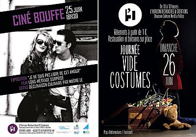 illustration de La Rochelle à L'Horizon : ciné-bouffe, samedi 25 juin et journée vide-costumes dimanche 26 !