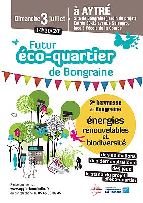 illustration de Aytré La Rochell Agglo : 2ème édition de la kermesse du futur éco-quartier de Bongraine, dimanche 3 juillet 2016