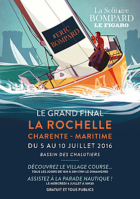 illustration de La Rochelle accueille le grand final de la Solitaire Bompard Le Figaro du 5 au 10 juillet 2016