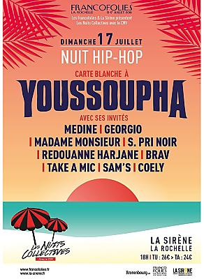 illustration de La nuit hip-hop des Francofolies de La Rochelle avec Youssoupha à La Sirène, dimanche 17 juillet 2016