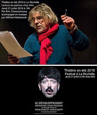 illustration de À l'affiche de Théâtre en été chez Aiôn : poésie en musique et séminaire musical décalé chez Aiôn, jeudi 21 juillet 2016 à 19h et 22h