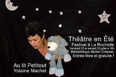 illustration de Théâtre pour les tout-petits à La Rochelle : Petitou de Yolaine Machet à la médiathèque Michel Crépeau les 22 et 23 juillet à 16h