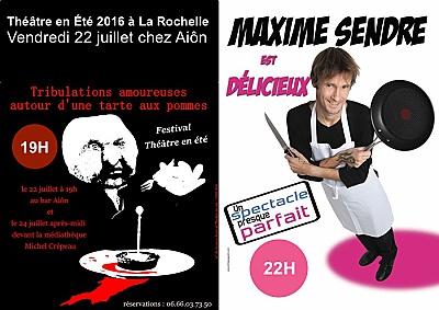 illustration de Humour à La Rochelle chez Aiôn avec Théâtre en Été, vendredi 22 juillet 2016