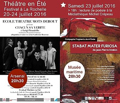illustration de La Rochelle festival : à l'affiche de Théâtre en été, samedi 23 juillet 2016