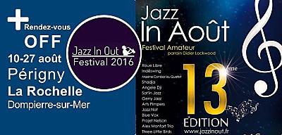 illustration de La Rochelle Agglo : le Off du festival Jazz in Août du 10 au 27 août 2016 à La Rochelle, Périgny et Dompierre