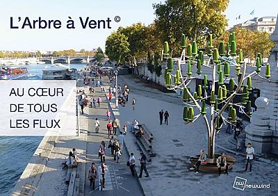 illustration de Primé à La Rochelle : L'arbre à Vent de NewWind coup de coeur de la fondation e5t, août 2016