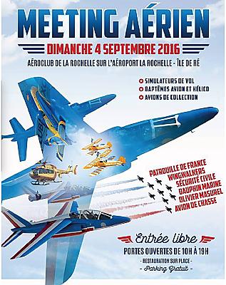 illustration de Grand meeting aérien à La Rochelle avec la Patrouille de France, dimanche 4 septembre 2016