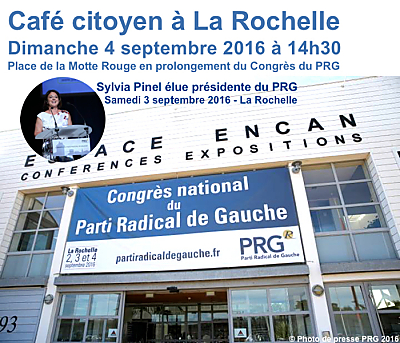 illustration de Radicaux de gauche à La Rochelle : Sylvia Pinel élue présidente et café citoyen, dimanche 4 septembre 2016