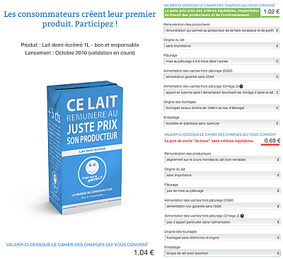 illustration de Le juste prix du lait : fixé par les consommateurs, vendu sous la marque C'est qui le patron !