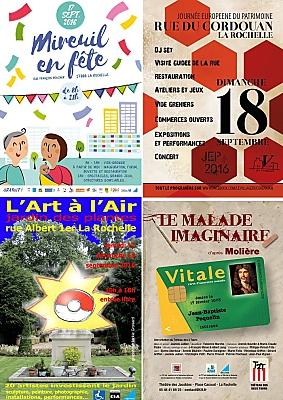 illustration de Week-end à La Rochelle : art au jardin, fête à Mireuil et au Village du Cordouan, le malade imaginaire du t2t les 17-18 septembre 2016
