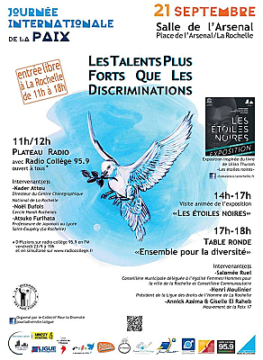 illustration de Journée internationale de la paix à La Rochelle : les talents plus forts que les discriminations, mercredi 21 septembre 2016