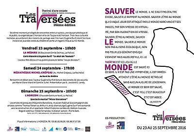 illustration de Arts croisés à La Rochelle : Les Traversées, 16e édition proposée par l'Horizon avec Eugène Durif du 23 au 25 septembre 2016