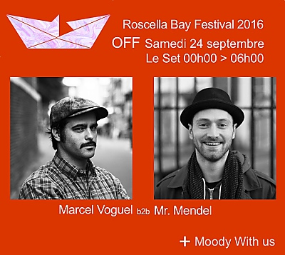 illustration de La Rochelle Roscella Bay Festival Off : Mr Mendel b2b Marcel Vogel, nuit soul, disco, house and groove au Set, samedi 24 septembre 2016