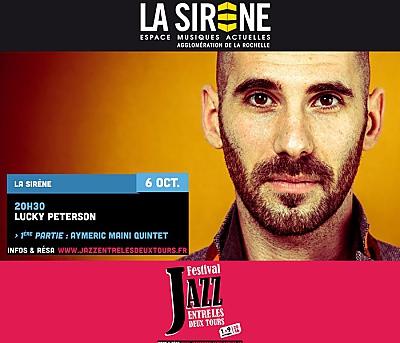 illustration de Blues & soul à La Rochelle : Lucky Peterson ; Aymeric Maini à La Sirène, jeudi 6 octobre 2016