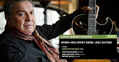 illustration de Après-midi gypsy jazz à La Rochelle avec le trio de Christian Escoudé samedi 8 octobre 2016 à