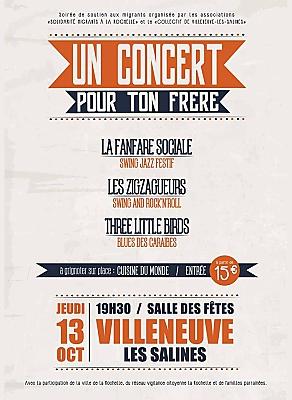 illustration de Solidarité avec les réfugiés à La Rochelle : concert de soutien aux migrants, jeudi 13 octobre 2016