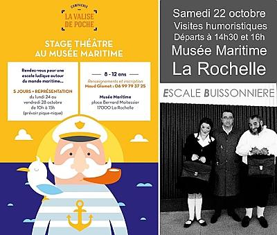 illustration de Vacances à La Rochelle : stage de théâtre 8-12 ans et visites humoristiques pour tous fin octobre 2016