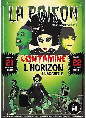 illustration de Rock electro-chimique à La Rochelle : La Poison contamine l'Horizon, vendredi 21 et samedi 22 octobre 2016