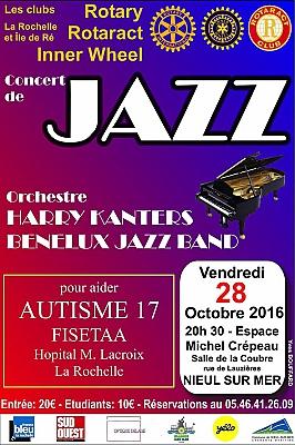 illustration de La Rochelle Agglo : grand concert de jazz des clubs Rotary à Nieul-sur-mer, vendredi 28 octobre 2016