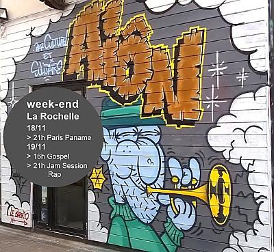 illustration de Week-end à La Rochelle : le jazz manouche de Paris Paname, gospel et jam rap à l'Aiôn, vend. 18 et sam. 19 novembre 2016
