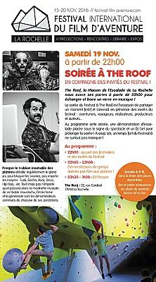 illustration de The Roof à La Rochelle : soirée festive avec les invités du Festival du film d'aventure, samedi 19 novembre 2016