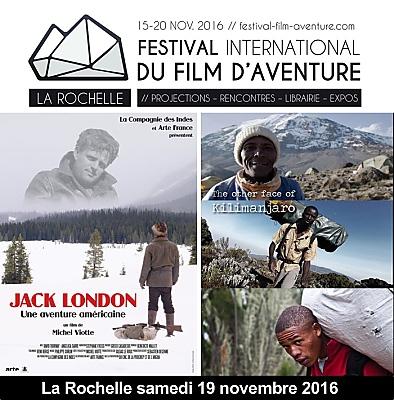 illustration de Festival du film d'aventure de La Rochelle : les glaces, l'océan, la terre, l'espace... Samedi 19 novembre 2016