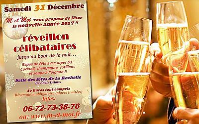 illustration de Nouvel An à La Rochelle : le Réveillon des célibataires avec M et Moi, le 31 décembre 2016