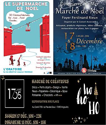 illustration de La Rochelle Agglo : marchés de Noël des créateurs et producteurs, samedi 17 et dimanche 18 décembre 2016