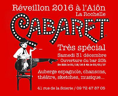 illustration de Nouvel An à La Rochelle : le cabaret très spécial de l'Aiôn, samedi 31 décembre 2016