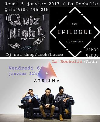 illustration de Semaine de rentrée à La Rochelle : quiz et Dj's sets jeudi 5/01 ; jazz vendredi 6 janvier 2017