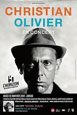 illustration de Christian Olivier en concert à La Rochelle : RV avec le leader des Tête Raides à l'Horizon, jeudi 12 janvier 2017