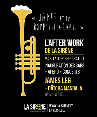 illustration de After-work musical à La Rochelle : James Leg et Datcha Mandala à La Sirène, mardi 17 janvier 2017 !
