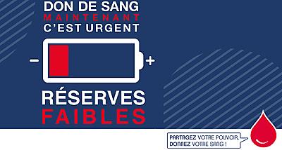illustration de La Rochelle - Charente-Maritime : appel au don de sang en urgence, janvier 2017 !